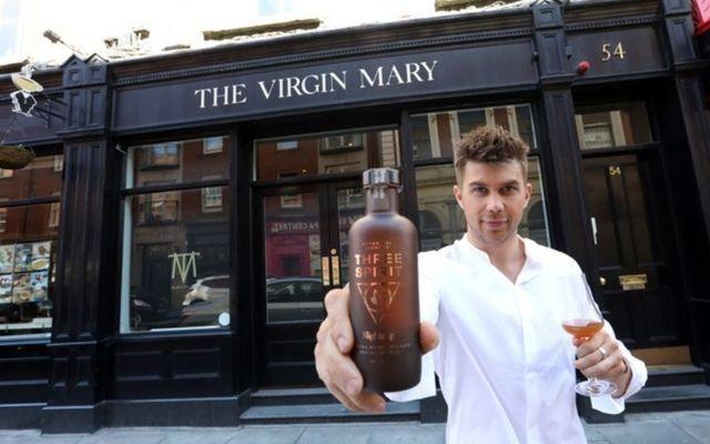 Bartender Charlie Yates outside the Virgin Mary pub in Dublin.