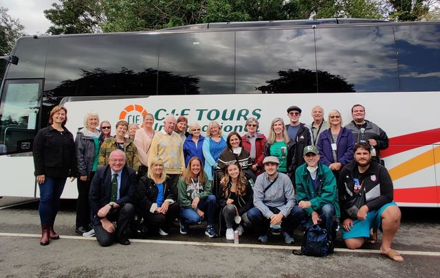 ""\""""Irish Spirit""""! Just the second CIE Tours group in Ireland in 2021. A happy sight, indeed!""640|405|?|en|2|731c2656e8f3b610032b5b8682c46b2a|False|UNLIKELY|0.35942360758781433
