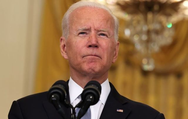 August 16, 2021: President Joe Biden gives remarks on the worsening crisis in Afghanistan from the East Room of the White House in Washington, DC.
