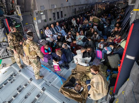 German military loads planes to civilians escaping Afghanistan as the Taliban takes control once more.