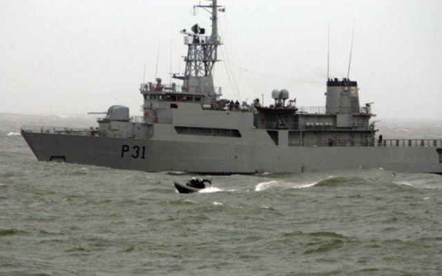 An Irish Naval vessel in 2007.