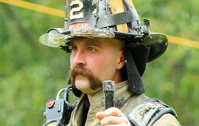 """Firefighter Patrick Murray, 30, has \""""a long road ahead of him\"""" as he recovers from a brain tumor."""