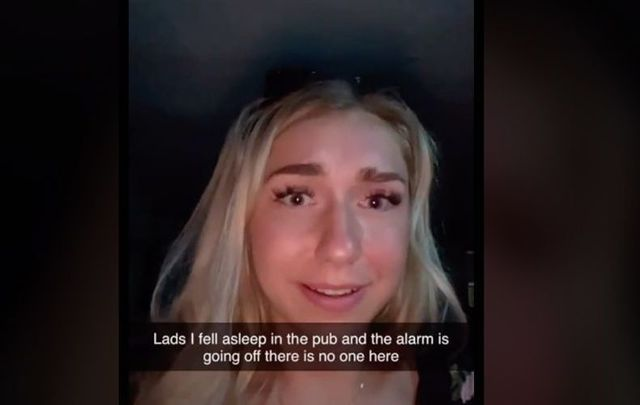 Emma Choptiany got locked inside a Tipperary pub after falling asleep in the bathroom.