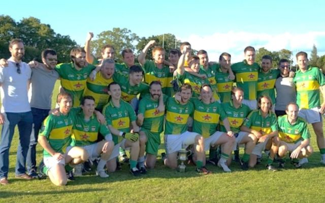 The 2016 Western Gaels team after winning the Gloucestershire Senior Football Championship\n