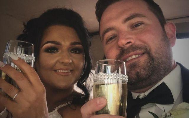 Josh and Samantha Willis on their wedding day in 2019.