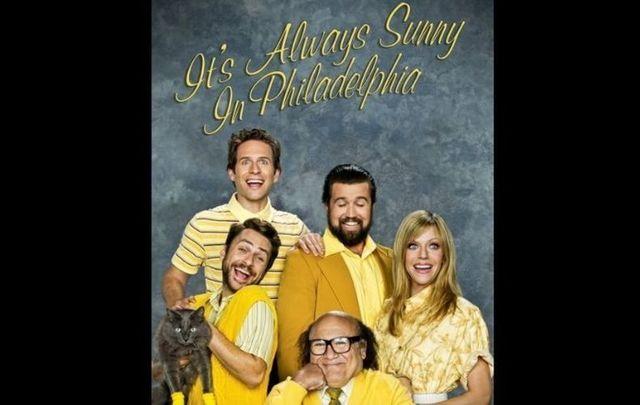 It\'s Always Sunny in Philadelphia starring Rob McElhenney, Charlie Day, Glenn Howerton, Kaitlin Olson, and Danny DeVito
