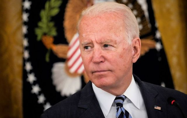 August 25, 2021: US President Joe Biden speaks during a meeting about cybersecurity in the East Room of the White House in Washington, DC.