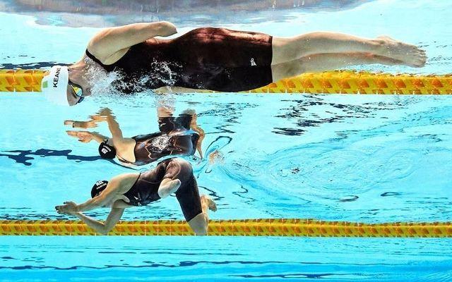 Keane in action during her SB8 100m breaststroke heat earlier this week.