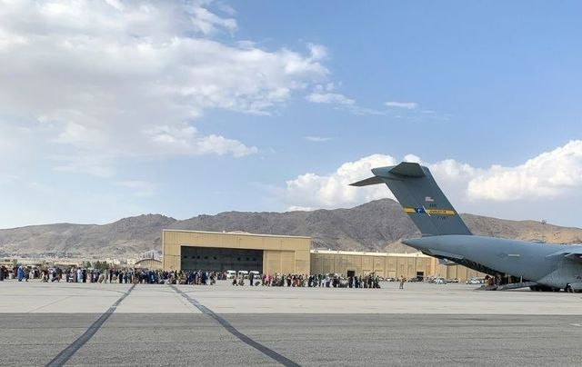 August 21, 2021: US paratroopers assist in the evacuation of non-combatants from Kabul International Airport in Afghanistan.