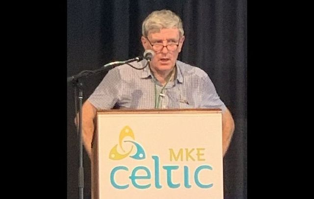 Ambassador of Ireland to the United States, Daniel Mulhall, at Milwaukee Irish Fest on August 20, 2021.