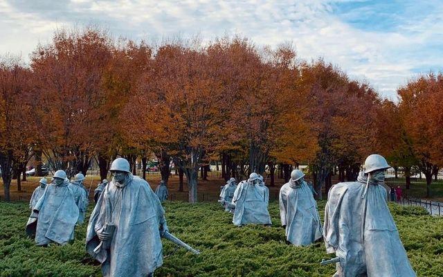 Korean War memorial in Washington. \n