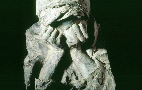 Anguish by Glenna Goodacre, a sculpture featured at Ireland\'s Great Hunger Museum at Quinnipiac University in Connecticut.