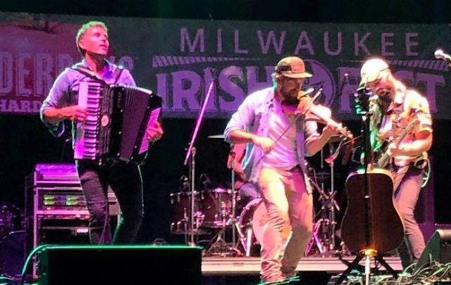 Scythian performing at the 2021 Milwaukee Irish Fest.