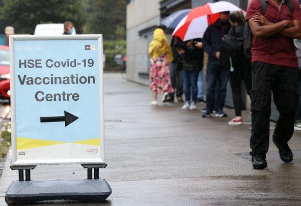 A Covid vaccination center at Croke Park, in Dublin.