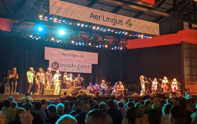 The Scattering, the closing ceremony featuring Irish music and dance on Sunday evening at the 2021 Milwaukee Irish Fest.