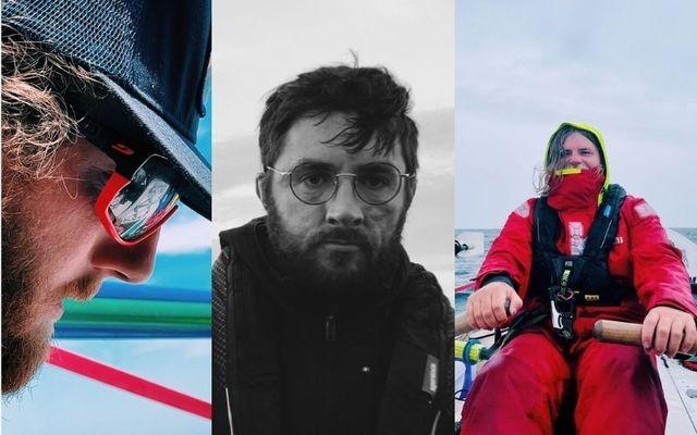 The Hard Way Home crew- Ryen Cosgro, Réamonn Byrne and Chris McCaffery