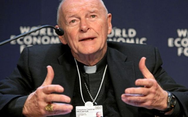 Former Cardinal Theodore McCarrick at the World Economic Forum in Davos, Switzerland, in 2008.