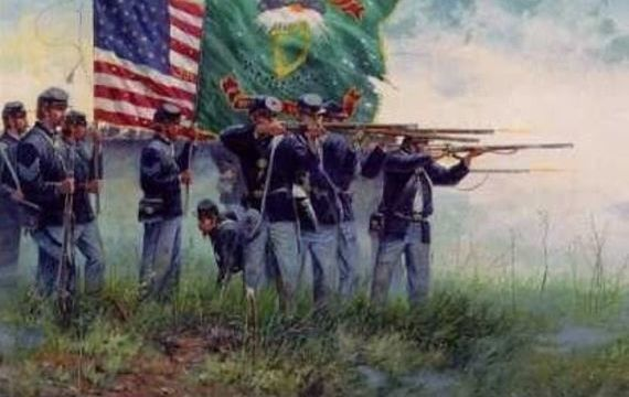 "The \""Fighting 69th\"", the Irish Brigade during the American Civil War."