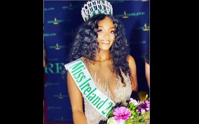 Newly crowned Miss Ireland winner Pamela Uba
