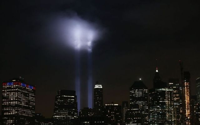 Annual tribute in light marks anniversary of attacks on the World Trade Center\'s Twin Towers