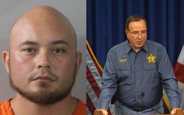 Mugshot of Bryan Riley/ Polk County Sheriff Grady Judd