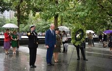Ireland's Minister for Foreign Affairs lays wreath at 9/11 Memorial for 20th anniversary
