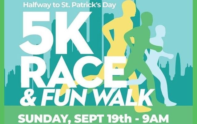 The Council of Irish Associations of Greater Bergen County, Inc invites you to its Halfway to St. Patrick\'s Day 5K Race / Fun Walk on Sunday, September 19.