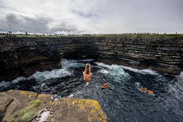 Red Bull Cliff Diving World series in County Mayo.