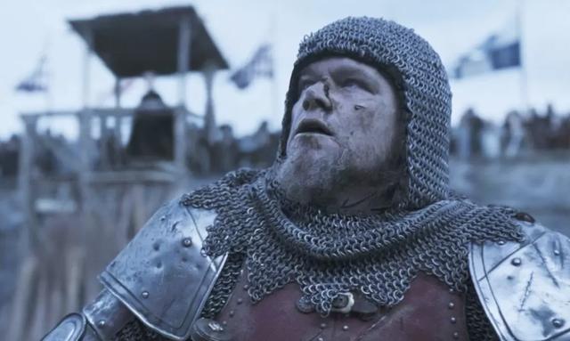 """Matt Damon in a scene from \""""The Last Duel\""""."""