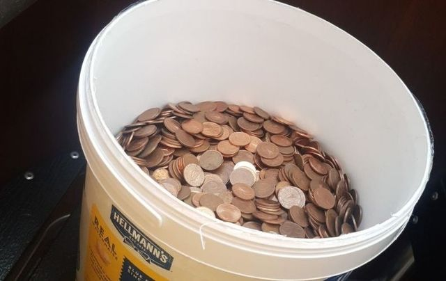 Rian Keogh was paid in five-cent coins for his final paycheck.