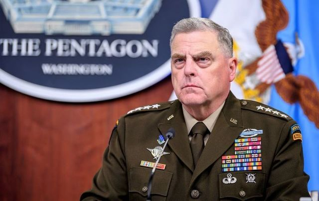 May 27, 2021: Chairman of the Joint Chiefs of Staff Army Gen. Mark A. Milley testifies before the House Appropriations Committee-Defense on the Fiscal 2022 Department of Defense Budget in the Pentagon Press Briefing Room, Washington, D.C.