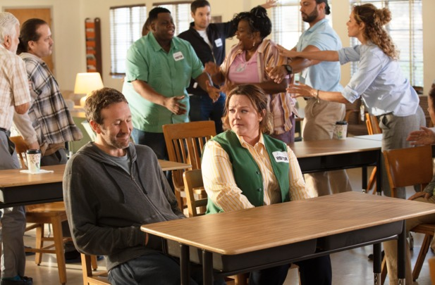 """Still of Chris O\'Dowd and Melissa McCarthy in \""""the Starling\""""."""
