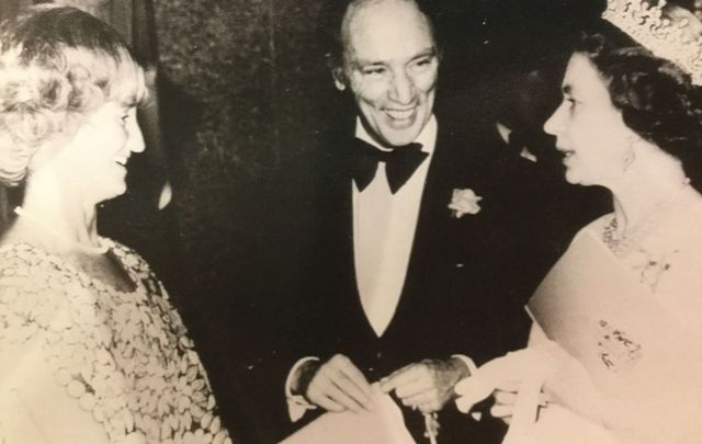 Mary Dohey with Pierre Trudeau and Oueen Elizabeth II.