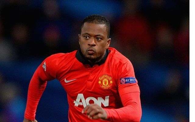 Patrice Evra in action for Manchester United in 2013.