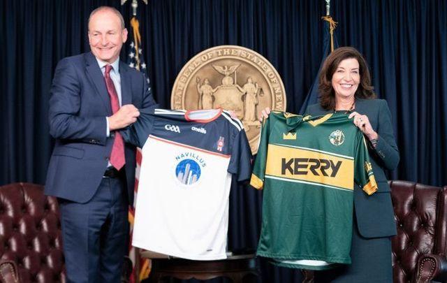 September 20, 2021: New York Governor Kathy Hochul meets with Ireland\'s Taoiseach Micheál Martin in New York City.