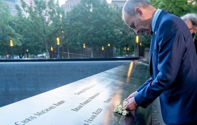 September 20, 2021: Taoiseach Micheál Martin visited the 9/11 Memorial in New York City.