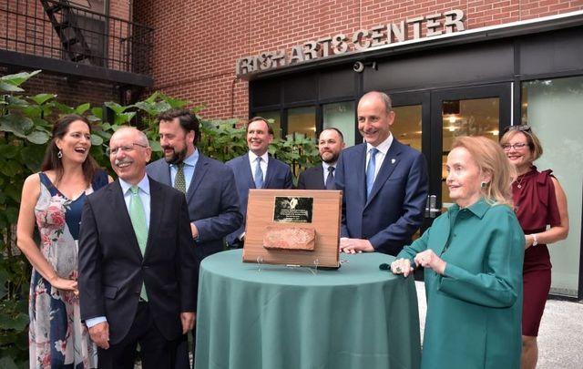 September 21, 2021: Taoiseach Micheál Martin attends the dedication ceremony at the New Irish Arts Center in New York City.
