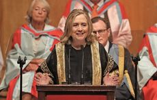 Hillary Clinton hails Northern Ireland as a beacon of democracy during Queen's University ceremony
