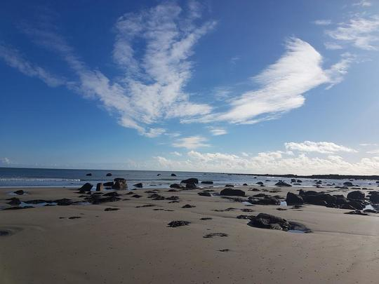 Carne Beach, County Wexford, the site of the crash.