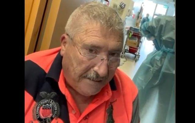 COVID Joe McCarron left Letterkenny University Hospital in Co Donegal against the advice of doctors.