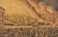 Mrs. O'Leary's cow did not start the Great Chicago Fire 150 years ago