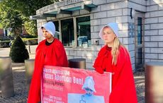 Protest staged at US Embassy in Dublin in response to Texas abortion law