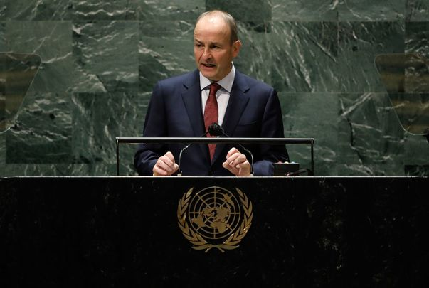 September 24, 2021: Prime Minister of Ireland Micheál Martin addresses the 76th Session of the U.N. General Assembly at U.N. headquarters