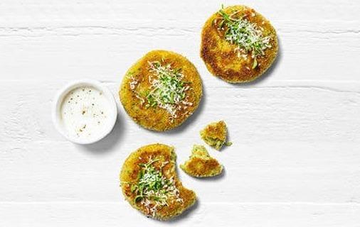 Potato cakes with broccoli and cheddar recipe.