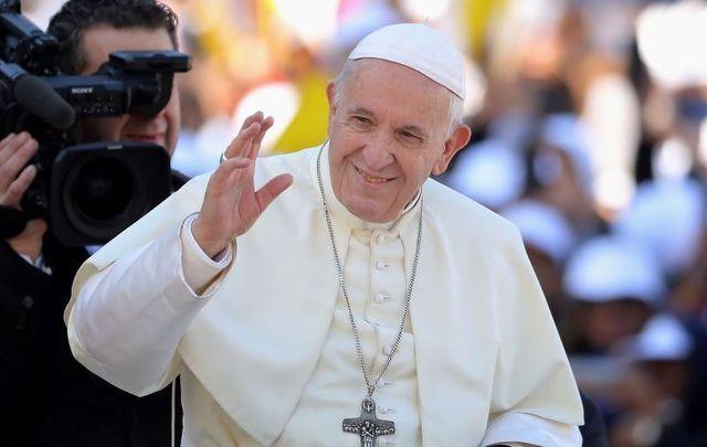 February 5, 2019: Pope Francis pictured here in Abu Dhabi, United Arab Emirates.