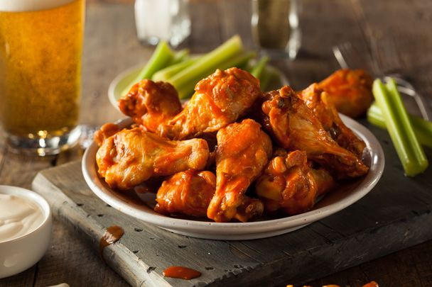 Chief Stuart O\'Keefe\'s Super Bowl chicken wings recipe.