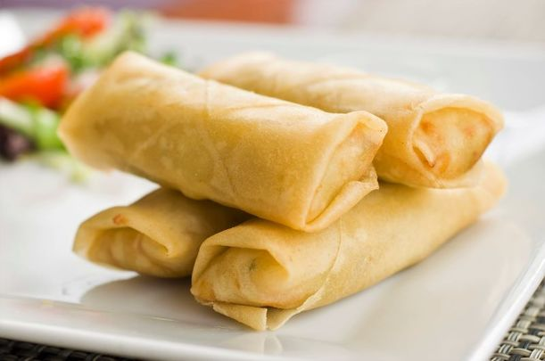 Traditional Irish fare but with a modern-day twist - corned beef and cabbage spring roll