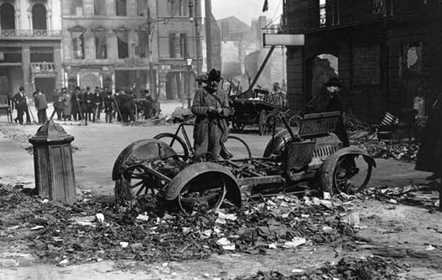 Devastation caused by the Easter Rising. Easter is a major holiday in Ireland, for a host of reasons, some of which are religious and some historical.