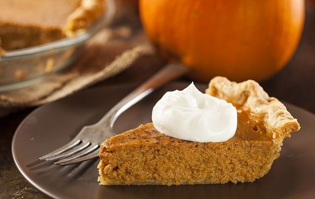 Seasonal and delicious pumpkin pie.