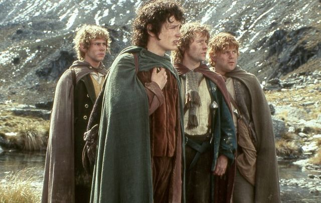 Frodo and his Hobbit pals in The Lord of The Rings